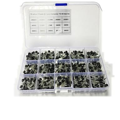 15 typer hver 40 mount til totalt 600-600 med bare 15 boks med transistor