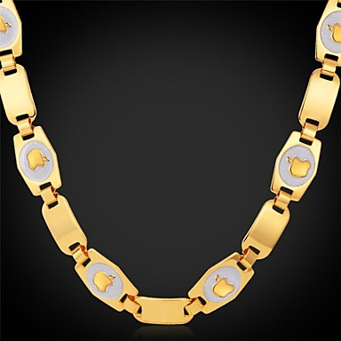 Necklace Choker Necklaces / Chain Necklaces Jewelry Wedding / Party / Daily / Casual / Sports Alloy / Gold Plated Gold 1pc Gift