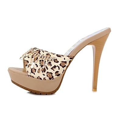 Для женщин Обувь Дерматин Весна Лето Осень На шпильке Платформа Стразы Назначение Для праздника Черный Желтый