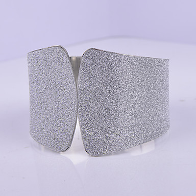 Dames Cuff armbanden Europees Legering Zilver Gouden Sieraden Voor Dagelijks Causaal Kerstcadeaus 1 stuks