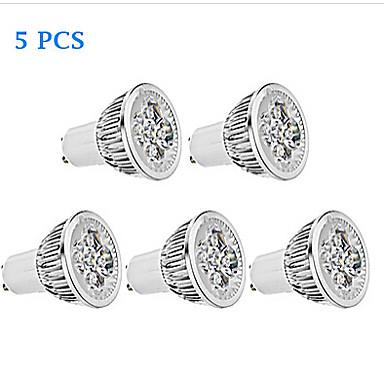 GU10 Żarówki punktowe LED MR16 4 Diody lED High Power LED 380lm Ciepła biel Zimna biel Przysłonięcia AC 110-130
