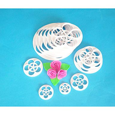 FOUR-C Cake Cutter,Rose Leaf Fondant Cutter Set,Fondant Tools Cake Decorating Tools,Cake Cutter Mould 13PCS/Set