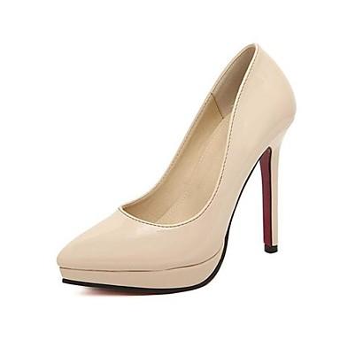 Γυναικεία παπούτσια - Γόβες - Φόρεμα - Τακούνι Στιλέτο - Με Τακούνι / Μυτερό - Δερματίνη - Μαύρο / Ροζ / Κόκκινο / Μπεζ