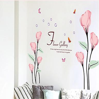 la mode sticker mural pvc callalily commune rose amovible