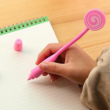 Kalem Kalem Tükenmez Kalemler Kalem,Silikon Varil Siyah mürekkep Renkleri For Okul malzemeleri Ofis malzemeleri Pack
