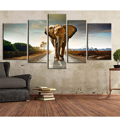 Stretched Canvas Print Canvas Set Animals Vertical Print Wall Decor Home Decoration