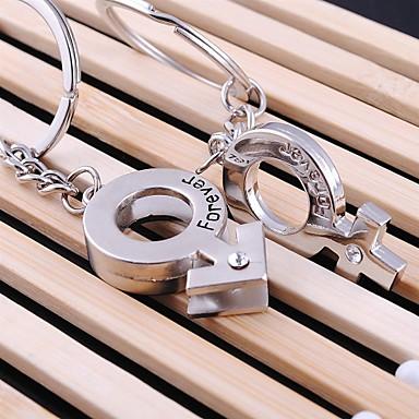 liefde voor altijd bruiloft sleutelhanger sleutelhanger voor de dag minnaar valentine's (een paar)