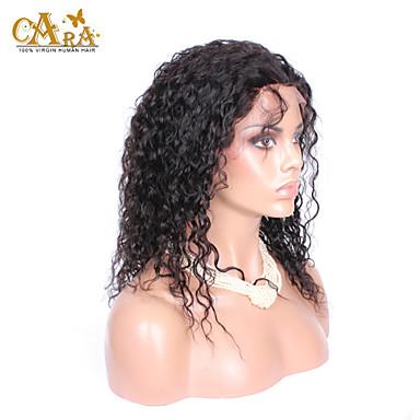 Perruque Naturelle Dentelle Cheveux humains Lace Front Densité Bouclé Perruque Noir Court Mi Longue Long