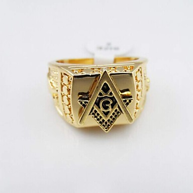 Men's Statement Ring Alloy Party Daily Casual Costume Jewelry