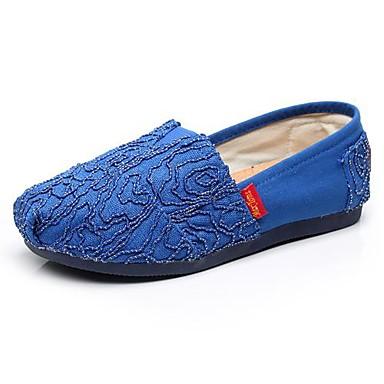Синий / Розовый - Женская обувь - На каждый день - Полотно - На плоской подошве - С круглым носком - Лоферы
