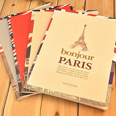 Charm Scenic Cute/Business Metal/Paper Creative Notebooks (Random Colors)