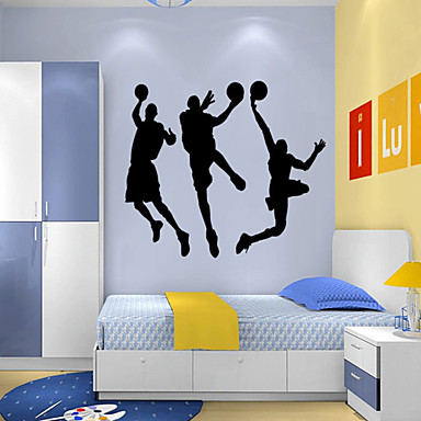 People Cartoon Sports Wall Stickers Plane Wall Stickers PVC Home Decoration Wall Decal Wall