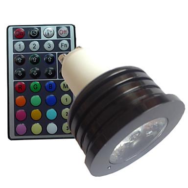 GU10 LED Spot Işıkları MR16 1 led Yüksek Güçlü LED Kısılabilir Uzaktan Kumandalı Dekorotif RGB AC 85-265V