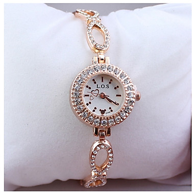 여성의 패션 금 중공 쿼츠 시계