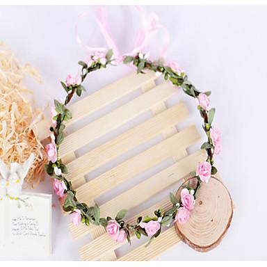 Women's Girls' Fabric Headband Wreaths Flower