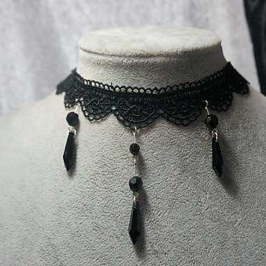 Bijoux Gothique Collier Victorien Noir Lolita Accessoires Collier Lace Pour Femme Dentelle