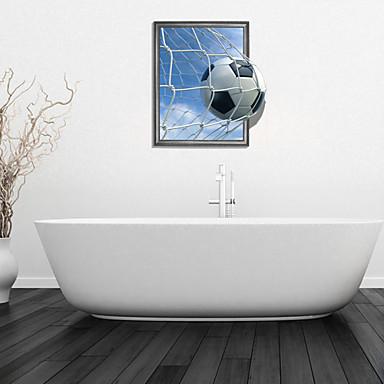 3d duvar çıkartmaları duvar çıkartmaları, futbol banyo dekor duvar pvc duvar çıkartmaları
