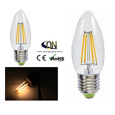 2개 ONDENN E26/E27 4 COB 400 LM 따뜻한 화이트 A60(A19) edison 빈티지 LED필라멘트 전구 AC 220-240 / AC 110-130 V