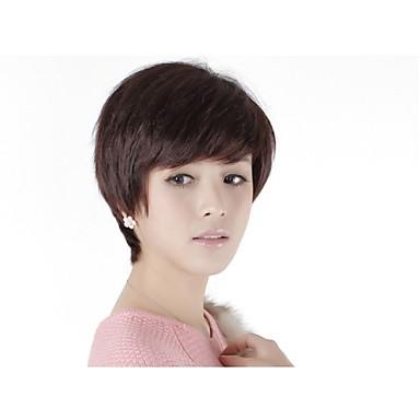 kapaksız kısa% 100 insan saçı peruk