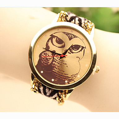 Fashion Women's Owl National Weaving South Korea Style Chain DIY Watch Cool Watches Unique Watches