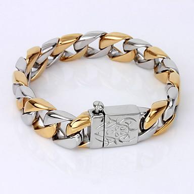 voordelige Herensieraden-Heren Armbanden met ketting en sluiting Uniek ontwerp Vintage Feest Werk Informeel Verguld Armband sieraden Schermkleur Voor