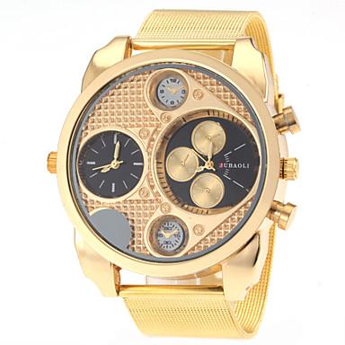 JUBAOLI Pánské Vojenské hodinky Křemenný Nerez Zlatá Hodinky s dvojitým časem Analogové Přívěšky Módní - Bílá Černá Jeden rok Životnost baterie / SSUO LR626