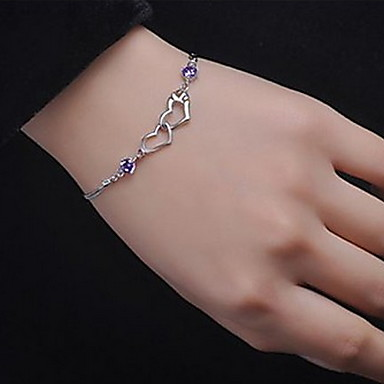 Chain Bracelet Vintage Cute Party Work Casual Love Cute Style Rhinestone Alloy Cross Jewelry Party