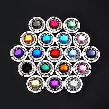renkli kristal HANGBAG kanca çanta askı çanta tutucu (rastgele renk) 4.5 * 4.5 * 2 cm