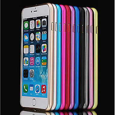 Case For Apple iPhone 8 iPhone 8 Plus iPhone 6 iPhone 6 Plus Shockproof Ultra-thin Bumper Solid Color Hard Metal for iPhone 8 Plus iPhone