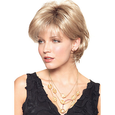 Capless  Heat-Friendly Synthetic  Short Blonde Wig