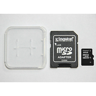 Оригинальный Kingston 16 Гб цифровой класс 10 Micro SD и карты памяти, и коробка адаптера карт памяти