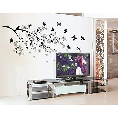 Dyr Botanisk Veggklistremerker Fly vægklistermærker Dekorative Mur Klistermærker, Vinyl Hjem Dekor Veggoverføringsbilde Vegg