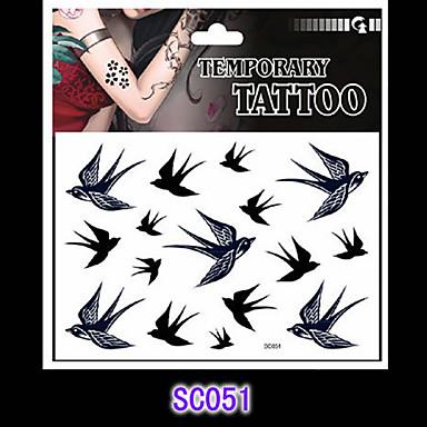 Αυτοκόλλητα Τατουάζ Σειρά Άνιμαλ Non Toxic Μοτίβο Χαμηλά στην Πλάτη WaterproofΕνήλικες Εφηβικό Flash Tattoo προσωρινή Τατουάζ