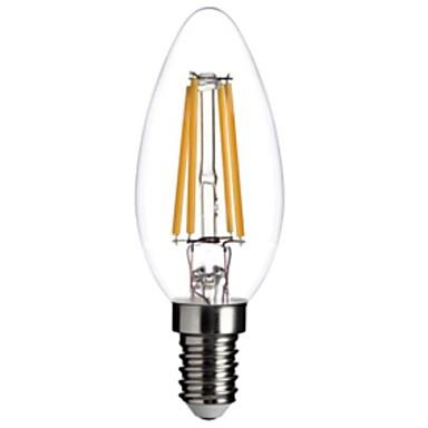 Buy E12 LED Candle Lights C35 leds COB Dimmable Decorative Warm White 400lm 2800-3200K AC 110-130V