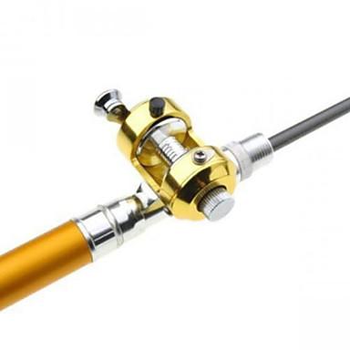 Fiskestang Foldbare ministenger Foldbare ministenger Metall Generelt fisking Fiskestenger + Fiskesneller