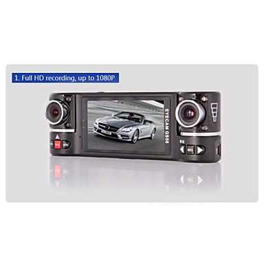 GS50 1280 x 480 Auto dvr 120 Grad Weiter Winkel 2.7inch Autokamera mit Nachtsicht / GPS 8 Infrarot-LEDs Auto-Recorder