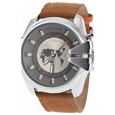 JUBAOLI Men's Quartz Military Watch Calendar / date / day Casual Watch Fabric Band Charm Fashion Black