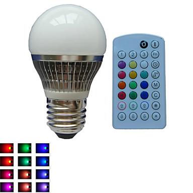 E26/E27 LED Küre Ampuller A50 1PCS led Yüksek Güçlü LED Ses Sensörlü Uzaktan Kumandalı Dekorotif Kısılabilir RGB RGB AC 85-265V