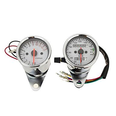 dual kilometerteller speedometer og turteller motorsykkel med bakgrunnsbelysning