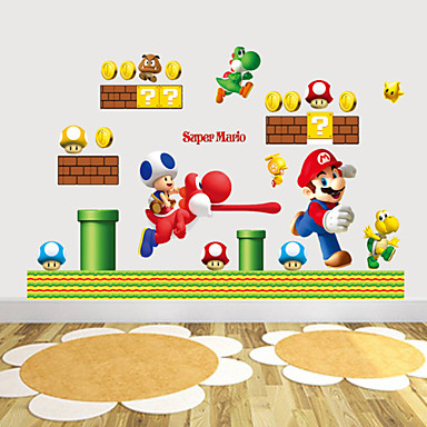 Animals Cartoon Wall Stickers Plane Wall Stickers PVC Home Decoration Wall Decal Wall