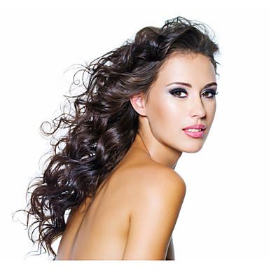 Бразильские волосы Человека ткет Волосы Естественные волны Наращивание волос 3 предмета Естественный цвет Черный