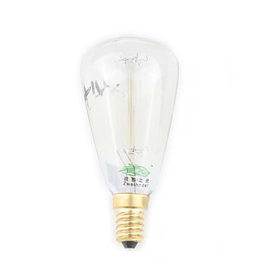 1 τμχ Zweihnder E14 30W 1 400 LM Θερμό Λευκό CA35 edison Πεπαλαιωμένο LED Λάμπες Πυράκτωσης AC 220-240 V