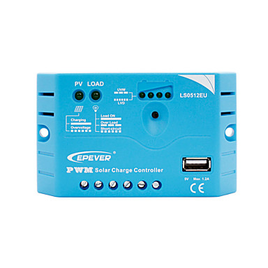 EPever 5A USB Solar Charge controller with USB Charger LS0512EU
