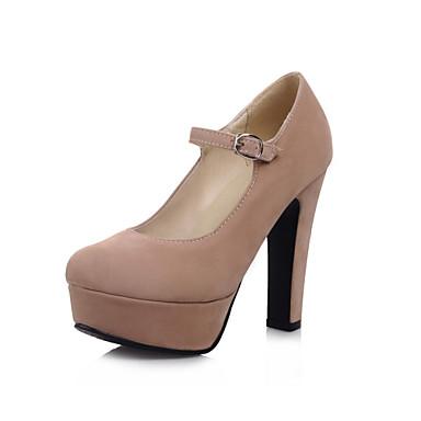 Femme Chaussures Polyuréthane Printemps Eté Automne Confort Talon Bottier Boucle pour Décontracté Bureau et carrière Habillé Noir Rose