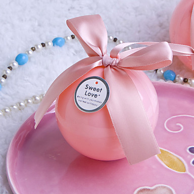 Ball Plastic Favor Holder with Bowknot Favor Boxes Gift Boxes