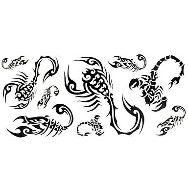 1 Πολύχρωμο Άλλα - Αυτοκόλλητα Τατουάζ - Χαμηλά στην Πλάτη - από Χαρτί για Γυναικεία/Αντρικά/Ενήλικες/Εφηβικό
