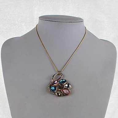 Fashion Crystal/Alloy/Rhinestone Necklace Multicolor Swan Pendant Necklaces Party/Daily