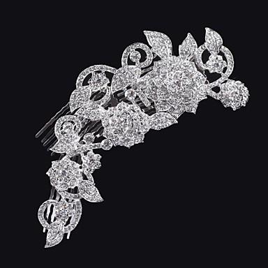 горный хрусталь волосы гребень головной убор свадебный вечер элегантный женственный стиль