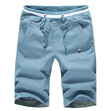 Pánské Neformální Nadměrné velikosti Pure Kraťasy Kalhoty ( Bavlna Směs  bavlny Lněný ) adc12d3030