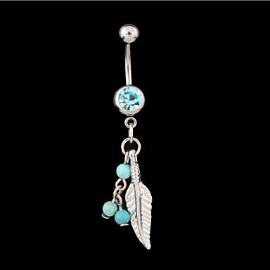 Krystall Navel Ring / Belly Piercing - Krystall Unikt design, Mote Dame Sølv Kroppsmykker Til Daglig / Avslappet